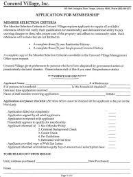 Application For Membership Member Application