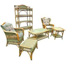 sunroom furniture set. Fine Sunroom Wicker Sunroom Furniture Vintage Grange Rattan And  Set In Green Color Scheme Discount Intended I