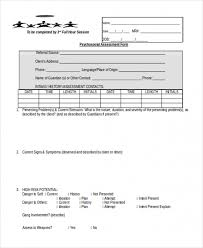 Sample Assessment Form Download Sample Psychosocial Assessment Form 8 Free Documents In