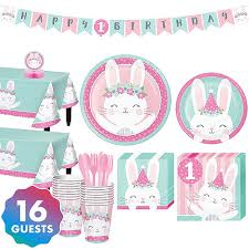 Pink <b>Bunny 1st Birthday</b> Party Supplies | Party City