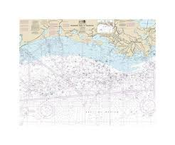 Mississippi River To Galveston Nautical Chart Sailcloth