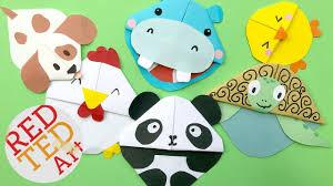 5 kawaii bookmark corners diy kawaii s diy panda puppy dog en hippo turtle red ted art