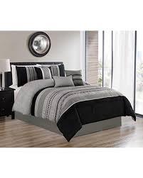 microfiber bedding set. Simple Bedding Luxlen 7 Piece Oversized Luxury Embroidery Bed In Bag Microfiber Comforter  Set Black Queen And Bedding S