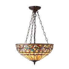 interiors 1900 66401 ashtead tiffany large inverted 3 light pendant
