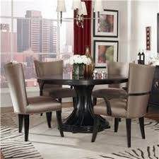 cosmopolitan 5 piece round table set with quatrefoil table base by a r t furniture inc at round dining