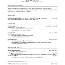 Veterinary Technician Resume Templates Facile Photo Cover Letter