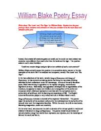 write about the lamb and the tiger by william blake explain  page 1 zoom in