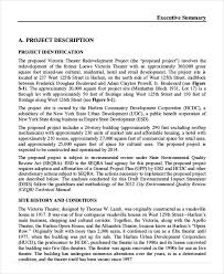 Project Executive Summary Template Template Business