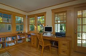 craftsmen office interiors. diy craftsman trim home office traditional with builtin desk doug fir wood molding craftsmen interiors