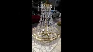 antique french original swarovski crystal chandelier lamp 1940s you