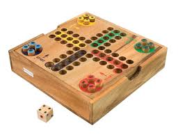 Game With Stones And Wooden Board MaxiAids Ludo Wooden Board Game 59