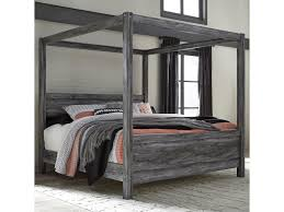 Signature Design by Ashley Baystorm King Canopy Bed in Gray Finish ...