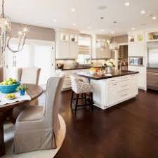 Dark hardwood floor Oak White Romantic Kitchen With Dark Hardwood Flooring Photos Hgtv Photos Hgtv