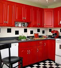 15 Retro Kitchen Ideas That Will Take You Back In Time Red Kitchen Cabinets Retro Kitchen Red Cabinets