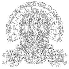Small Picture Thanksgiving turkey Thanksgiving Coloring pages for adults
