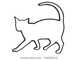 cat drawing outline.  Outline Outline Of A Cat For Cat Drawing