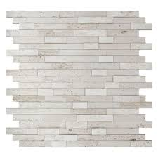 himalayan white 11 77 in x 11 57 in x 8 mm stone self adhesive wall mosaic tile 11 4 sq ft case