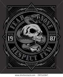 Snake Skull Graphic Design Design Ideas Skull Design Graphic