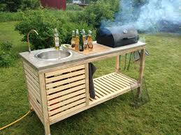 build this multifunctional table with grill and sink ideas para in how to make an outdoor kitchen prepare 2