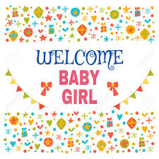 baby postcard welcome baby girl baby girl shower card baby girl arrival postcard
