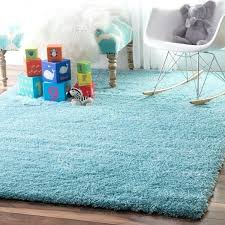 elegant blue nursery rug for soft and plush cloudy solid baby blue rug 8 x