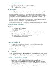 sample safety plan health and safety plan generic