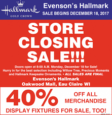 Store Closing Sale Evensons Hallmark