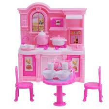 Cheap dolls house furniture sets Doug Dollhouse Kitchen Simulation Barbie Furniture Set Dining Table Cabinet For Barbie Dolls Accessories Doll House Decor Girls Toysin Dolls Accessories From Aliexpresscom Dollhouse Kitchen Simulation Barbie Furniture Set Dining Table