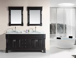 design element marcos 72 double sink vanity set with carrara white marble countertop in espresso