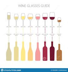 Wine Glasses And Bottles Guide Infographic Colorful Vector