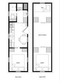 Small Picture 8 by 24 foot tiny house on wheels layout Perfect for 2 kids and