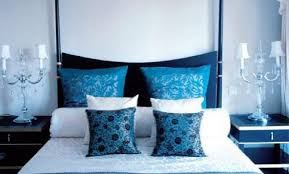 Modern Blue Bedroom Blue And White Interior Combination Design Architecture And Art