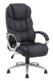 Articles With High Back Black Leather Overstuffed Executive Office