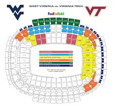 edit i got this from the wvu athletics site so all the blank sections are hokie sections