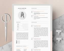 Modern Resume Template Oddbits Studio Free Download Oddbitsstudio On Etsy