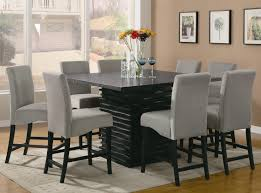 chair and table design kitchen counter height sets high surprising tallining room alliancemv black gloss furniture america square gl table set dining