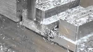 Transparent Aluminium Milling Aluminum 7075 On X2 Sieg Machine Youtube