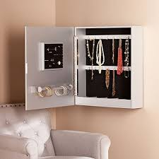 wall mount jewelry armoire mirror. Mirrored Wall-Mounted Jewelry Armoire. Previous; Next Wall Mount Armoire Mirror