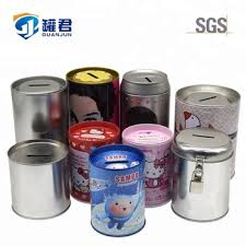 coin box for kids. Beautiful Box Cylinder Metal Tin Coin Bank For Kids Saving Money Box Intended G