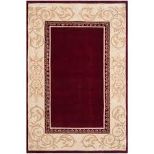 safavieh total performance burdy ivory 6 ft x 9 ft area rug