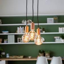 art deco pendant lamp copper facil 3