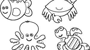 Free Coloring Sheets Sea Animals Pages Pdf Under The Ocean For