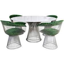 Image Platner Arm Four Piece Platner Table And Chairs 1stdibs Warren Platner Arabesque Marble Dining Table With Four Chairs For