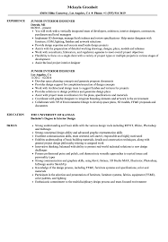 Junior Interior Designer Resume Samples Velvet Jobs
