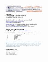 Federal Resume Template Federal Resume format Template Fresh Federal Job Resume Template 67