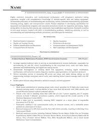 Aviation Electrical Maintenance Personnel, DOD Secret Security Clearance  Resume Sample - After-1