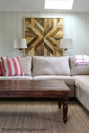 DIY Pottery Barn Planked Wood Quilt Square -- want to make four of these for