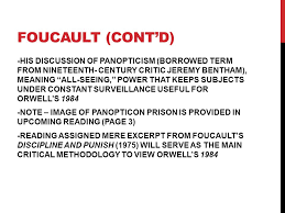 orwell s and foucault thursday orwell born eric arthur blair  9 foucault