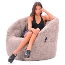 beige bean bag chair