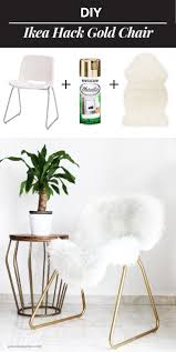 white chairs ikea ikea. Ikea Hack: Turn A Boring Chair Into Glam Piece // Today I Want To Share With\u2026 White Chairs